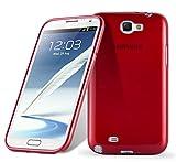 Cadorabo Coque pour Samsung Galaxy Note 2 en Rouge Cerise – Housse Protection Souple en Silicone TPU avec Anti–Choc et Anti–Rayures – Ultra Slim Fin Gel Case Cover Bumper