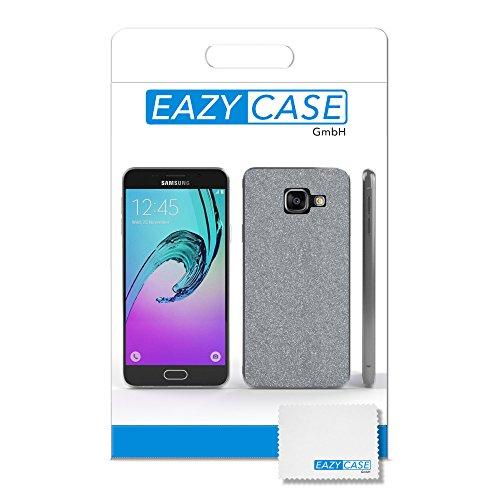 Samsung Galaxy A3 (2016) Hülle - EAZY CASE Handyhülle - Ultra Slim Glitzer Schutzhülle aus Silikon in Anthrazit Glitzer Silber