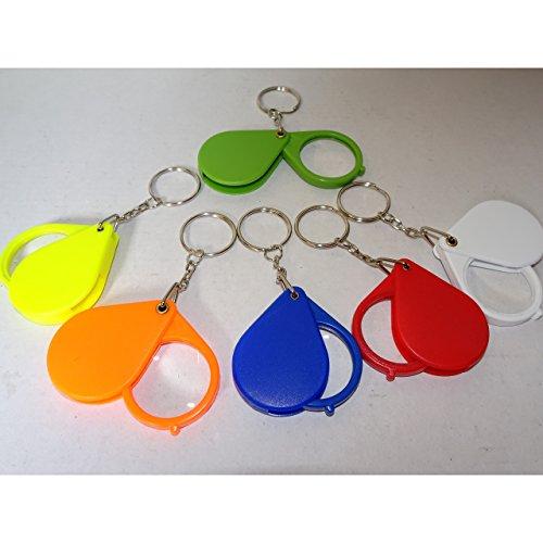 1a-becker 6er Set Lupe Einschlaglupe an Schlüsselkette SK Vergrößerungsglas Mitgebsel Kinder