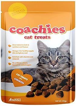 THE COMPANY OF ANIMALS Coachies Friandises pour Chat poulet 65 g - Lot de 4