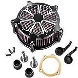CNC Air Cleaner Kit Turbine Edge Cut Admission d'air pour Harley Davidson Sportster Xl1200Xl883fer 883Quarante huit
