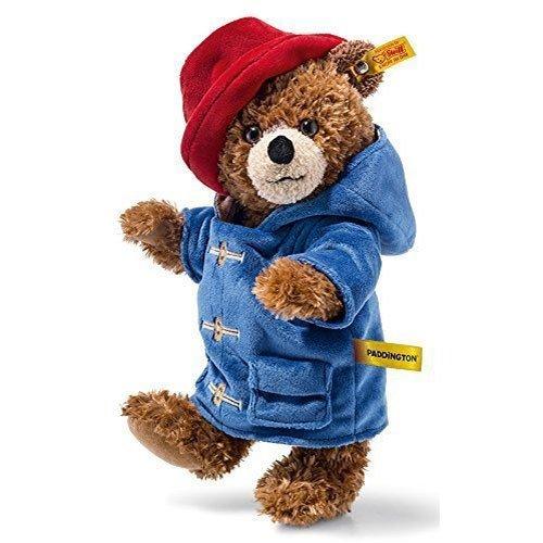 Plush Paddington Bear by Steiff - officially licensed jointed teddy - 28cm