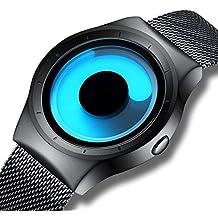 beef09a3bfcf Relojes de Diseño Simple para Hombre Reloj de Pulsera de Malla Relojes del  Cuarzo Lujo Ocasionales