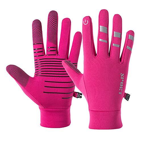 Handschuhe Sowie Samtverdickende Wanderhandschuhe, wasserdichte Outdoor-Reithandschuhe Im Winter, Unisex-Sportwärme (Unisex) (Pink,M)