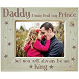 Yaya Cafe Fathers Day Gifts Engraved Photo Frame Wooden - King Daddy
