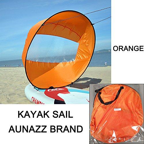 Aunazz/Downwind Wind Sail kit 106,7 cm Kayak canoë Accessoires, installation facile et se Déploie rapidement, compact et portable