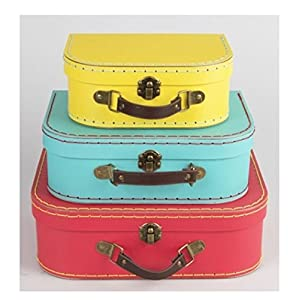 Sass & Belle Brights (Set of 3) Retro Suitcases [UK-Import]
