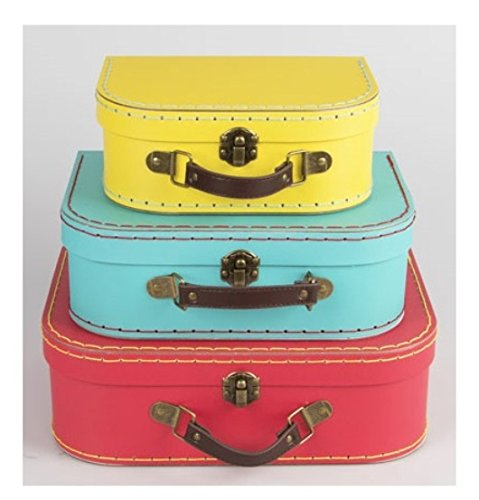 Sass & belle brights (set of 3) retro suitcases [edizione: regno unito]