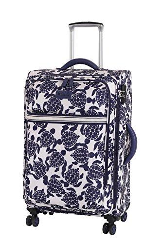 it luggage Nautical Turtles 8 Wheel Lightweight Semi Expander Suitcase Medium Koffer, 66 cm, 78 liters, Mehrfarbig (Navy/Cream Sea Print)