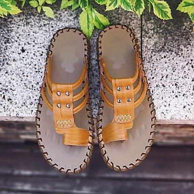 Slippers & amp da uomo;Estate con laccio dietro al Comfort Light Soles pelle bovina esterna casuale Studded Wate sandali US9.5 / EU42 / UK8.5 / CN43