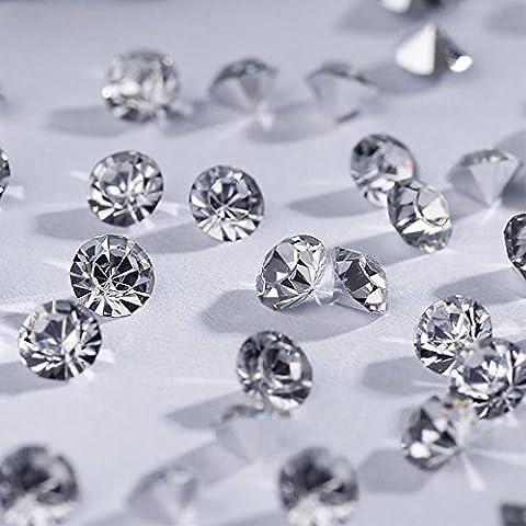 7200pcs cristalli decorativi, Mini trapano resina strass Diamante, 4mm per matrimoni, fidanzamenti, occasioni speciali, compleanni, decorazione, casa partito