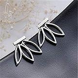 RKWEI Ohrringe Für Damen Ein Paar Modeschmuck Einfache Gold Und Silber Aussage Hohlen Lotus Doppelseitige Ohrstecker B