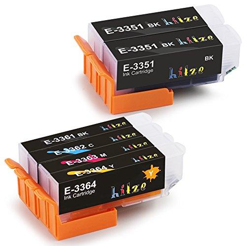 Hitze Epson 33XL Cartuccia Multipack Compatibile per Epson XP-900 XP-540 XP-530 XP-830 XP-640 XP-630 XP-7100 XP-645 XP-635 (2 Nero, 1 Foto nera, 1 Ciano, 1 Magenta, 1 Giallo)