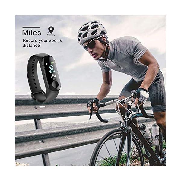 GerTong Fitness Tracker Reloj inalámbrico con pantalla colorida resistente al agua con podómetro para iPhone, Samsung… 6