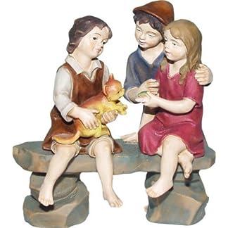 Grupo de niños, apto para figuras de 12 cm, coloreada a mano
