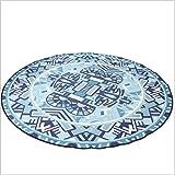 GXQ Round Printed Carpet Waschbar Rutschfeste Runde Pad Schaukelstuhl Mat (Farbe : B, größe : 150cm(59inch))