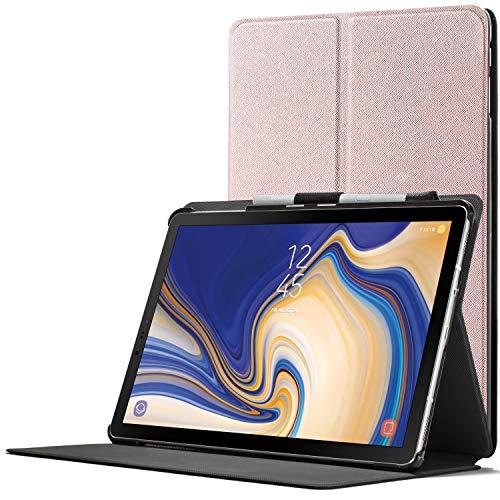 Forefront Cases Smart Hülle kompatibel für Samsung Galaxy Tab S4 10.5 | S-Pen Stifthalter | Magnetische Cover Galaxy Tab S4 10.5 Zoll Tablet-PC SM-T830/T835 | Auto Schlaf Wach Dünn Leicht | Roségold