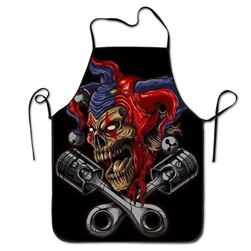 own Skull Aprons for Women/Men Lightweight Grill Waitress Overhand Chef Apron ()