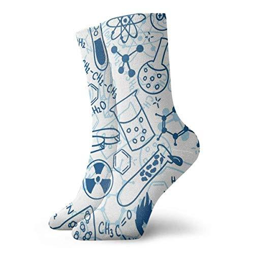 Jxrodekz Chemistry Men Women Novelty Funny Crazy Crew Sock Printed Sport Athletic Socks 30cm Long Personalized Gift Socks