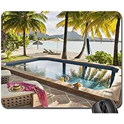 ST Regis Luxury Resort Bora Bora – privado piscina jacuzzi Hot Tub Mares del sur de la Polinesia francesa isla Mouse Pad, Mousepad (Beaches Mouse Pad)