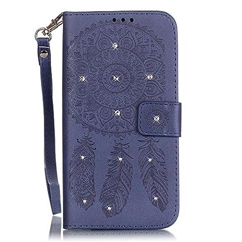 Jepson Samsung Galaxy S5 GT-i9600 / SM-G900F (5.1 pouces) Coque PU Cuir Flip Housse Étui Cover Case Wallet Stand avec Carte de Crédit Fentes pour ,L'utilisation de la technologie de pointe en relief surface de diamant de marqueterie de
