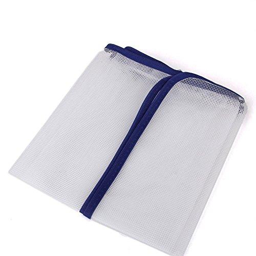 Jooks Bügel Pad Schutzhitzebeständige Mesh Stoff Bügelnde Kleidung Hitzeschutz Drücken Mesh Bügeln Guard Pad Kleidung Scorch Schutzabdeckung Mat 40*90cm weiße