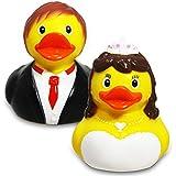 Rubber Duck Wedding Bride & Groom Set by A&D