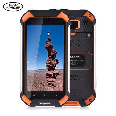 GUOPHONE V19 Smartphone 3G 4,5 inch Android 5,1 IP68 wasserdicht Staub und schockresistent Quad Core 2GB RAM 16GB Rom Outdoor Smart Phone (EU, Orange)
