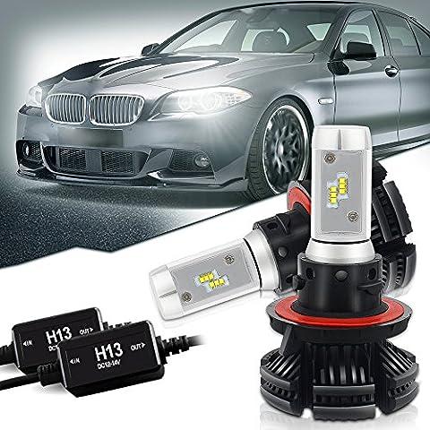 H13 9008 Led Headlight Bulbs Conversion Kit PHI-ZES Chips 12000LM 3000K 6500K 8000K