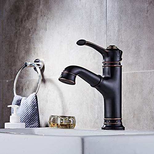 Wasserhahn Head-up Waschbecken Hahn Alle Kupfer Heiße Und Kalte Fass Spüle Drehhahn (Schraubenschlüssel Wasser Fass)