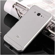 Prevoa ® 丨 Xiaomi Mi2 Mi2S Funda - Metal Frame Funda Cover Case para Xiaomi Mi2 Mi2S 4.3 Pulgadas Android Smartphone - Plata