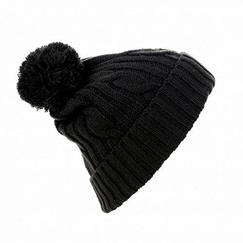 SOLS Barney - Bonnet à pompon - Homme (Taille unique) (Noir)
