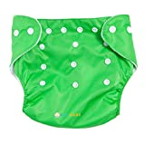 #10: Ole Baby Cloth Diaper REUSABLE Nappy Organic Cotton Anti Bacterial Washable Free Size Adjustable WaterProof Covered 0-2 Years