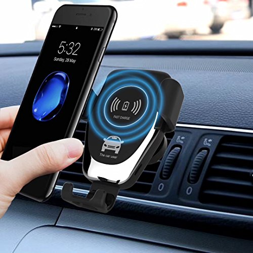 Caricabatterie wireless, Sysmarts Gravity caricatore auto Air Vent Phone Holder, 10W ricarica per Samsung Galaxy S8 S7/S7 Edge, Note 8, iPhone x, 8/8 Plus con confezione regalo