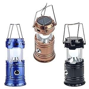 LED Solar Emergency Light Bulb (Lantern) - Travel Camping Lantern - Assorted Colours