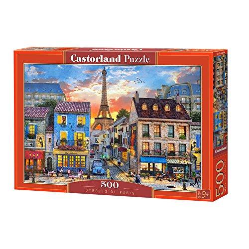 Castorland B-52684 Streets of Paris, Puzzle 500 Teile, bunt