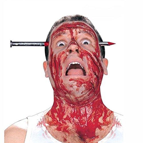 Colorfulworld Halloween Lustige Spielzeug Terror Nagelkopf April Fools Day Requisiten tragen Kopf Nagel Messerverschleiß die ganze Person - Halloween-kostüm Tragen Kopf