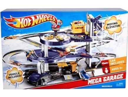 Hot wheels : mega garage avec une voiture inclus - piste - vehicule miniatures - mattel