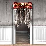 0,94 x 1,35 m Halloween Deko Eingang Halloweenparty Türvorhang Horror Türdeko Vorhang Halloweendeko Tür Vorhang Grusel Hängedeko