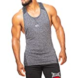 SMILODOX Stringer Herren | Seamless - Muskelshirt mit Aufdruck für Sport Gym Fitness & Bodybuilding | Muscle Shirt - Tank Top - Achselshirt - Trainingshirt Kurzarm, Farbe:Anthrazit, Größe:M