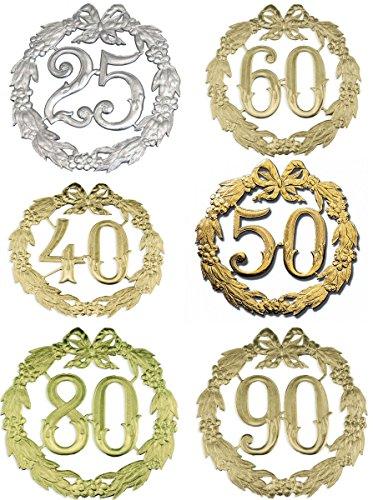 Jubiläums-Zahl 24Cmd 50 Gold 1234