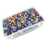 #5: eshoppee multicolor glass seed beads 100 gm (approx 3000 beads) for jewellery, art and craft making diy kit size 8/0