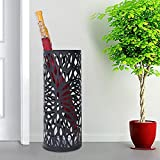 Songmics Umbrella Stand with Hooks and drip tray walking stick stand 49 cm x 19.5 cm Round LUC20B