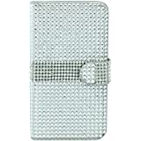 MM iPhone 6 Full Bling Wallet Case with 3 Credit Card Slots - Silver