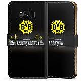Samsung Galaxy S8 Flip Tasche Schutz Hülle Walletcase Bookstyle Borussia Dortmund BVB Stadion