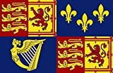 magFlags Flagge: Large Royal Standard of Great Britain 1707-1714 | Royal Standard of Great Britain between 1707 to 1714 | Querformat Fahne | 1.35m² | 90x150cm » Fahne 100% Made in Germa