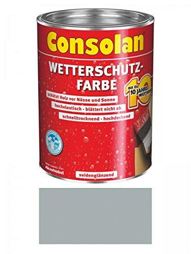 Preisvergleich Produktbild 2,5 Liter Consolan Wetterschutzfarbe , grau Nr. 202