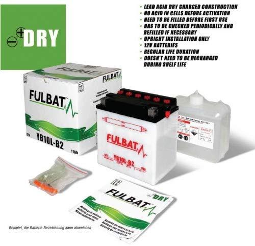 Fulbat 550557A077 Batterie YB 10L-B2 Suzuki GS500, F Bj: 01- (Volt/AMP) 12/11 Kit