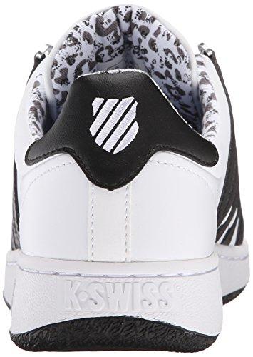 K-Swiss Classic VN Chaussures de Cour en cuir Baskets pour femme Leopard White/Black/Leopard