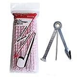 Joyoldelf tabacco Pipe Cleaning Kit - 80 pezzi del tubo di pulizia e 3-in-1 in acciaio inox tubo di fumo Tamper Alesatore Poker per raschiare, Pulizia e Toccare con un dito